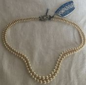 Pompadour Princess Pearls vintage in box pretty clasp necklace