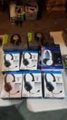 9 Items : 5 X PS4 Turtle Beach Ear Force Recon Chat Headset, 2 X Stealth SX-01 Stereo Gaming Headse