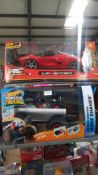 2 Items : 1 X RC Chargers La Fewrrari & 1 X Hot Wheels Monster Trucks RC Bone Shaker