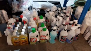 Approx 65 Items : Mixed Lot To Include Triplewax Liquid Gold, Russell Hobbs Steam Mop Detergent, Ca
