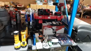 Approx 31 Items : Mixed DIY Lot To Include Hyper Tough 18V Lithium Ion Drill, 750W 115mm Angle Grin