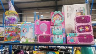 12 items : To Include Scentos Scented Sand, Hop Hop Unicorn & Disney Princess Activity Journal Keep