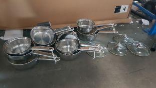 4 X Three Piece Pan Set