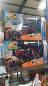 2 X Hot Wheels Monster Trucks RC Bone Shaker