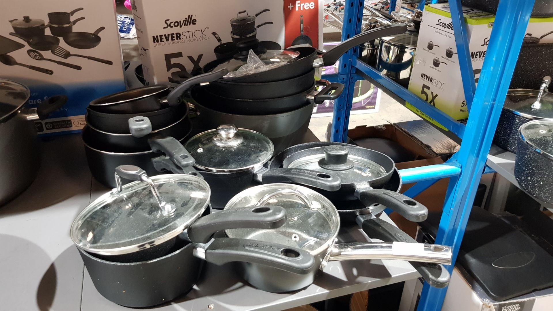 Approx 14 X Mixed Saucepans / Frying Pans / Casserole Pot