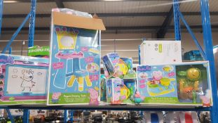 6 Peppa Pig Items To Include Peppa's Dressing Table, Cook N Camp Set, Magnetic Scribbler & 2 X Pepp