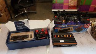 2 Items : 1 X The C64 Mini Retro Gaming Console (Joystick Broken) & 1 X Atari Flashback Retro Gamin