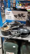 1 X Scoville Pure Never stick C 9 Piece Toughened Aluminium 9 Piece Cookware Set