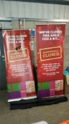 2 X Retractable Tall Sign with Carry Case