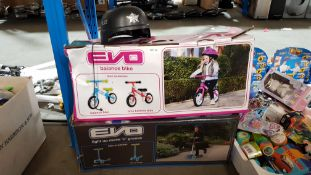 3 Items : 2 X Evo Balance Bike & 1 X Police Helmet