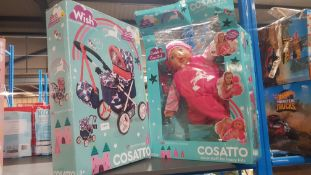 2 Items : 1 X Cosatto Dolls Pram & 1 X Cuddle And Care Doll