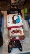 4 Items :L 1 X Nintendo Switch Official LVL 40 Wired Stereo Gaming Headset, 1 X Nintendo Switch Off