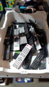Approx 25 X Mixed TV Remote Controls To Include Toshiba & Polaroid
