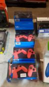 6 X VX4 Premium Wired Controller For PS4 / PC (3 X Black & 3 X Red)