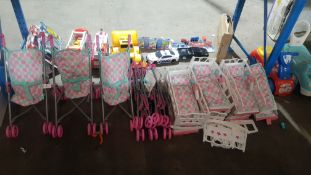 Approx 17 Items : 7 X Doll's Pram & 10 X Doll's Cot