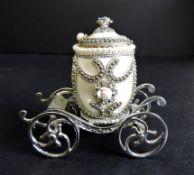Faberge Style Cinderella Carriage Trinket Box
