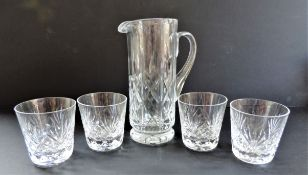 Crystal Jug & Glasses Set