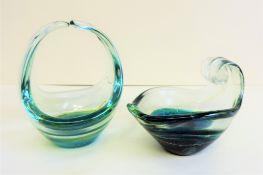 Two Items of Mdina Art Glass