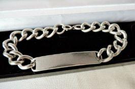 Vintage Solid Sterling Silver Men's ID Bracelet