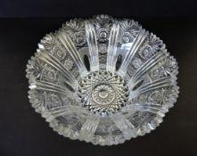Large Vintage Bohemian Crystal Bowl