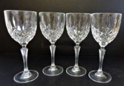 Set 4 Waterford Crystal Wine Glasses