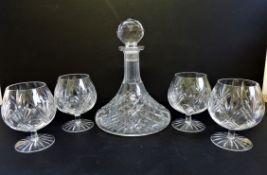 Crystal Brandy Decanter & Glasses Drinks Set