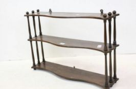 C19th hanging shelf's