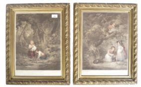 Pair of C19th coloured engravings after George Moreland