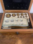 Set of jewellers weights in a box