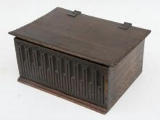 Late C17th early C18th oak carved small box