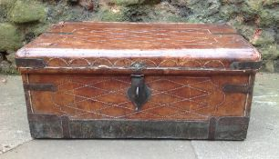 Georgian leather trunk