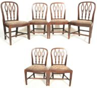 Set of six georgeIII mahogany chairs with tapestry seats