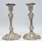 Pair of 20th-century silver plated candlesticks