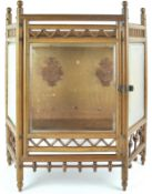 Oak framed hanging display cabinet