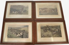 Allen C. Sealy (1850-1927) set of four lithographs