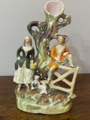 C19th small Staffordshire figurative group of a couple