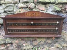 Billiard score board by W Jelks & Sons of London