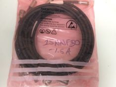5x anritsu 15nnf50-1.5a test port extension cable