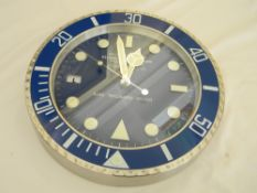 34 cm Silver body Blue Bezel Blue Dial watch design
