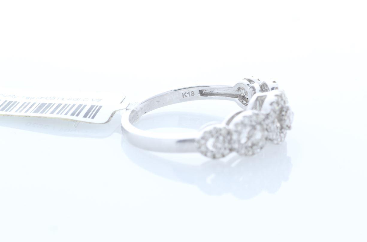 18ct White Gold Half Eternity Diamond Ring 0.57 Carats - Image 4 of 4