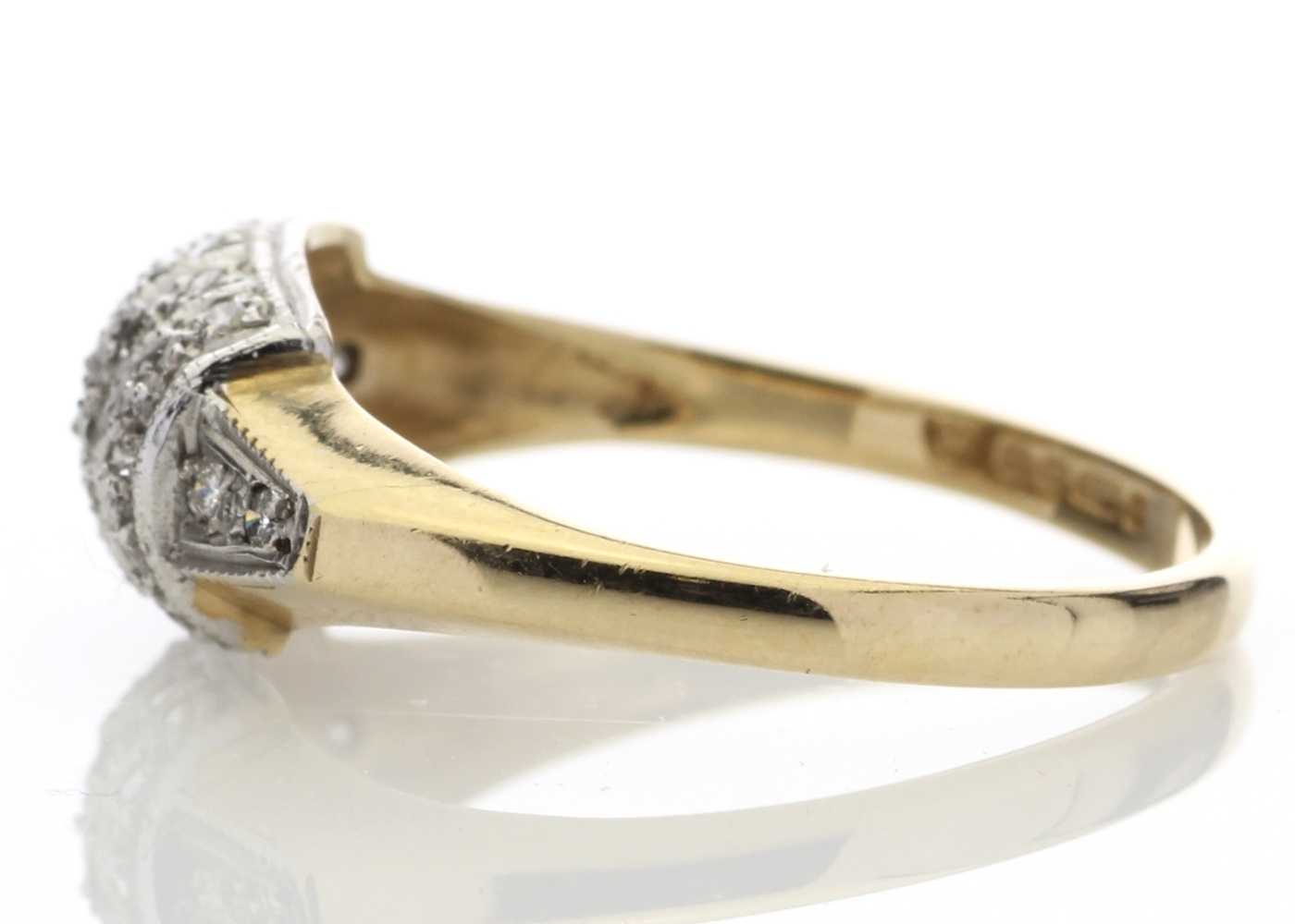 9ct Ladies Dress Diamond Ring 0.29 Carats - Image 3 of 4