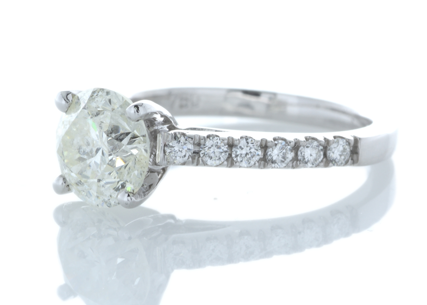 18ct White Gold Stone Set Shoulders Diamond Ring 1.92 Carats - Image 2 of 6