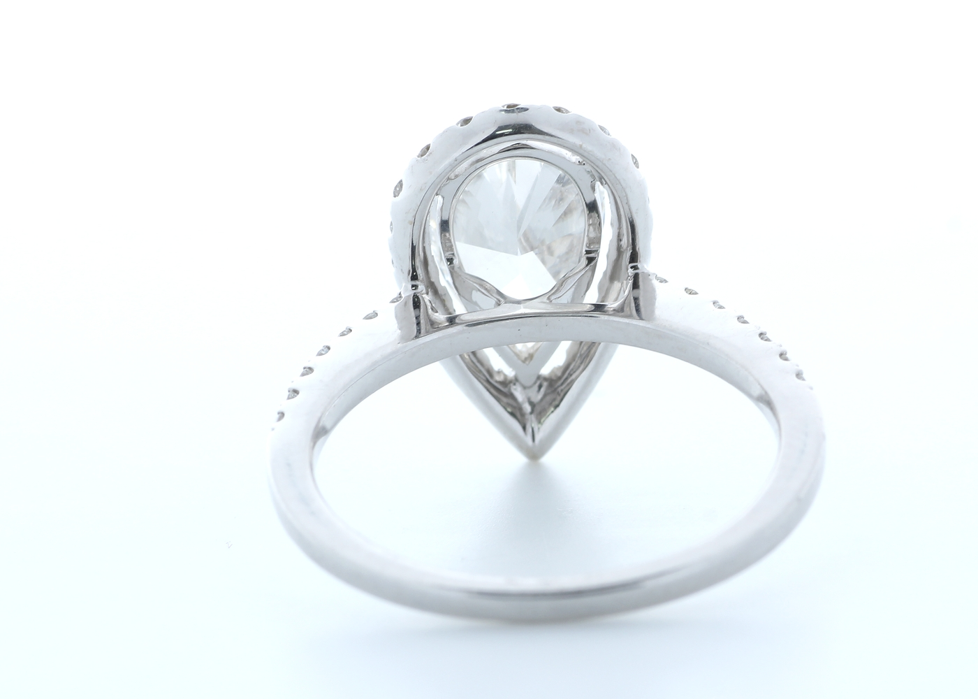 18ct White Gold Single Stone With Halo Setting Ring 2.54 (2.04) Carats - Image 3 of 5