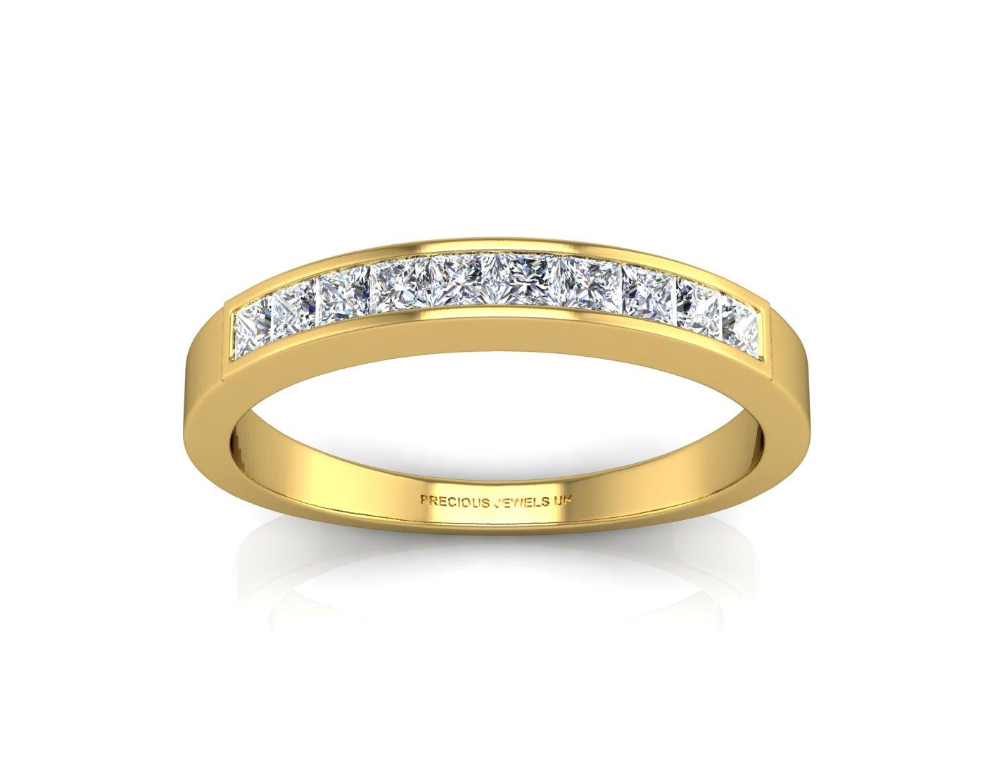 9ct Channel Set Semi Eternity Diamond Ring 0.50 Carats - Image 3 of 4