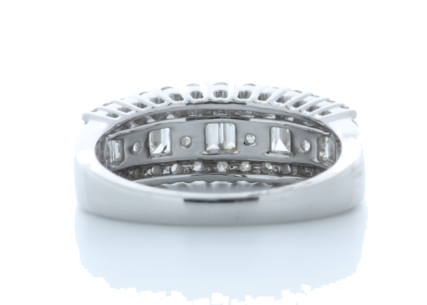 18ct White Gold Channel Set Semi Eternity Diamond Ring 0.95 Carats - Image 3 of 4
