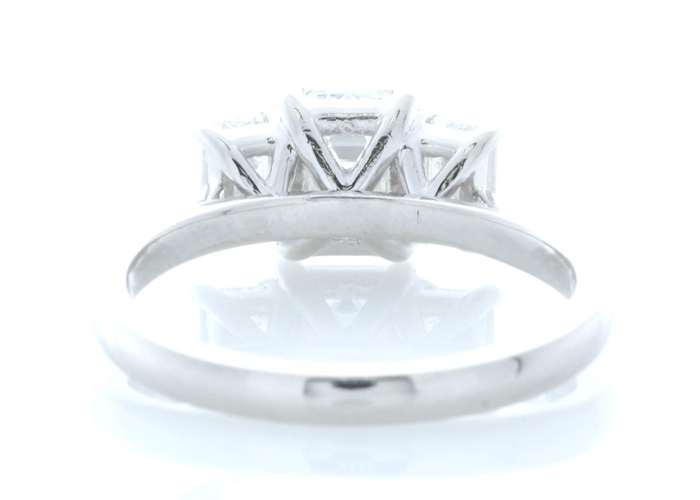 Platinum Three Stone Claw Set Diamond Ring 1.91 Carats - Image 3 of 4