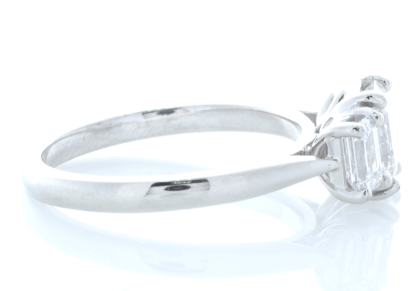 Platinum Three Stone Claw Set Diamond Ring 1.91 Carats - Image 4 of 4