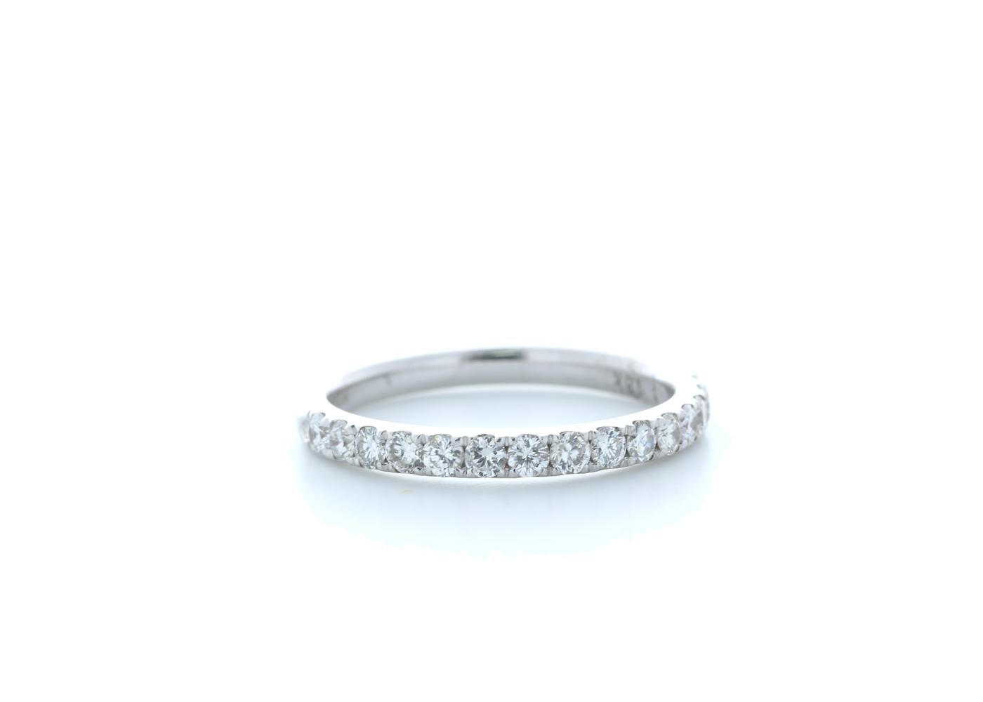 18ct White Gold Claw Set Semi Eternity Diamond Ring 0.35 Carats
