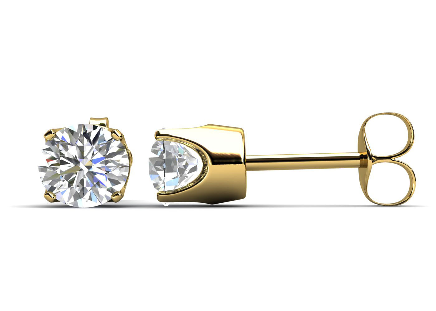 9ct Claw Set Diamond Earrings 0.15 Carats - Image 4 of 6
