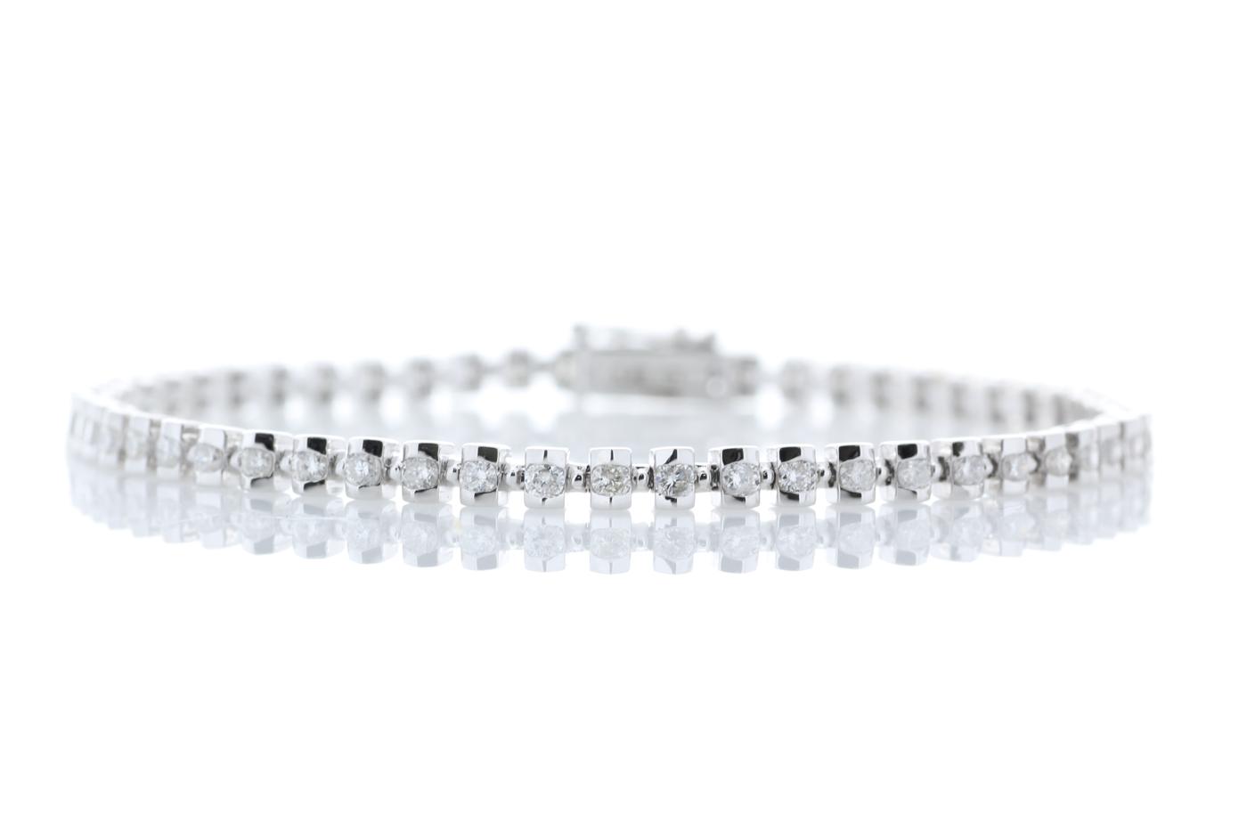 18ct White Gold Tennis Diamond Bracelet 1.82 Carats
